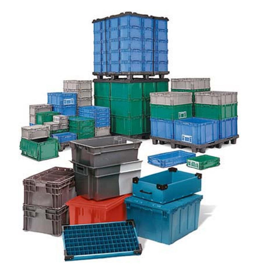 Where are plastic containers found?